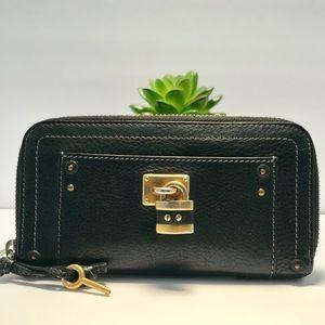 Authentic Cloe Paddington BlackZip Leather Wallet